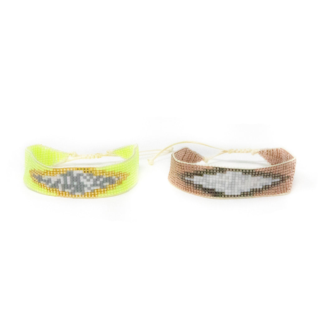 Woven Beaded Bracelets JEWELRY The Sis Kiss