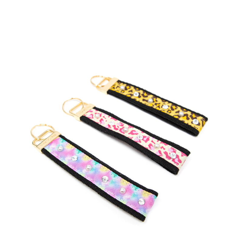 Leopard and Tie Dye Keychains