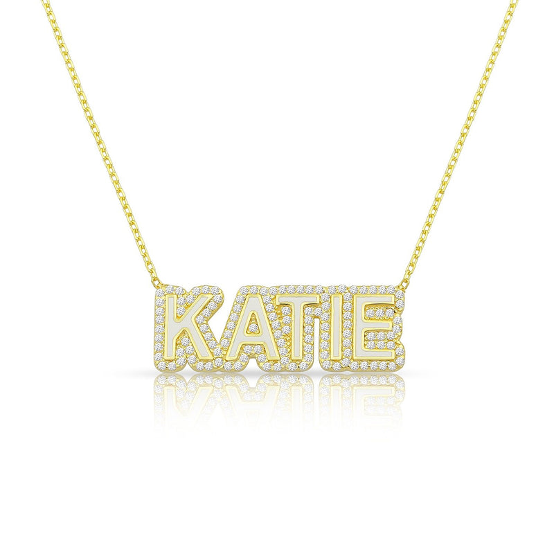 Hollywood Nameplate JEWELRY The Sis Kiss