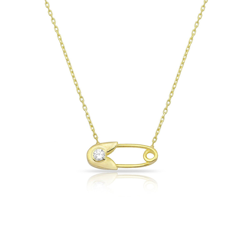 Dainty Gold Paperclip Necklace JEWELRY The Sis Kiss