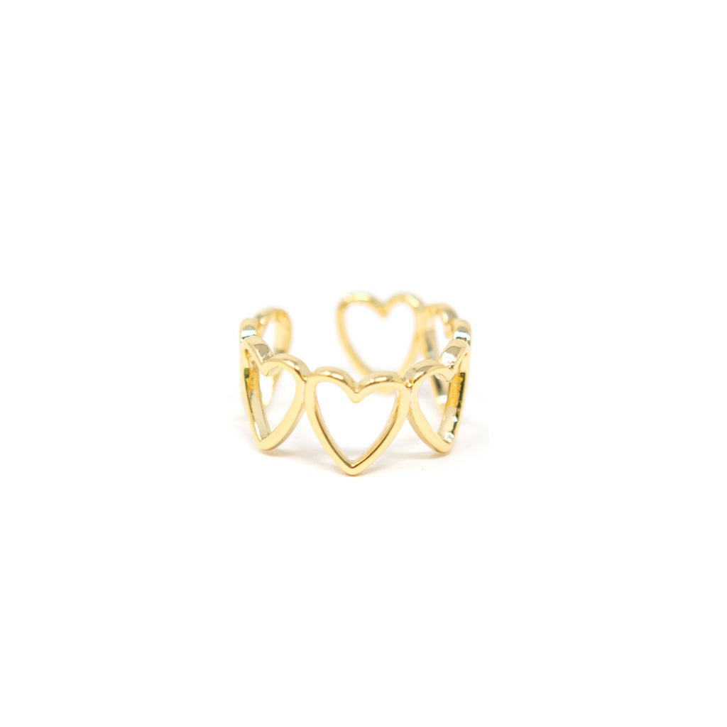 Hearts Adjustable Ring