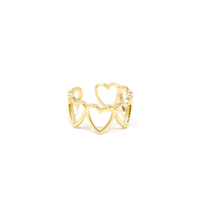 Hearts Adjustable Ring JEWELRY The Sis Kiss