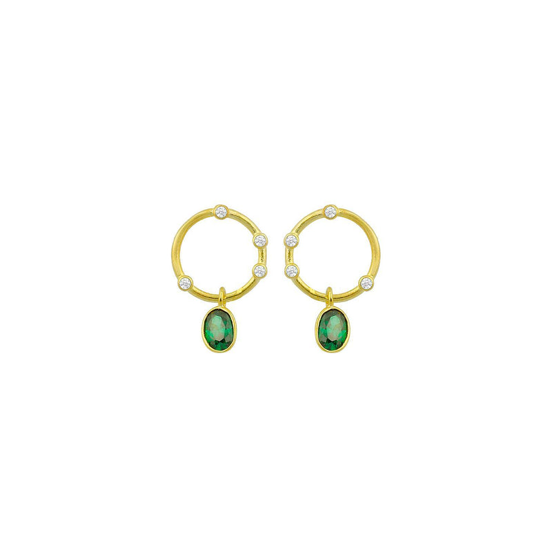Eternity Drop Earrings in Emerald or Crystal Gift Card The Sis Kiss Emerald