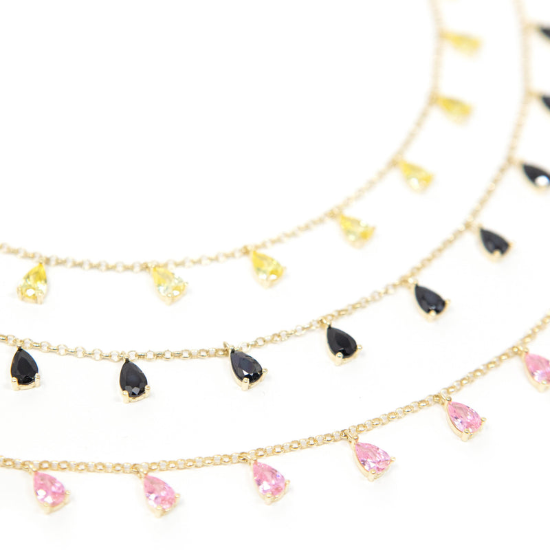 Teardrop Crystal Chokers necklace The Sis Kiss