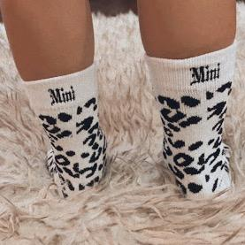 Mama and Mini Leopard Print Socks ACCESSORY The Sis Kiss