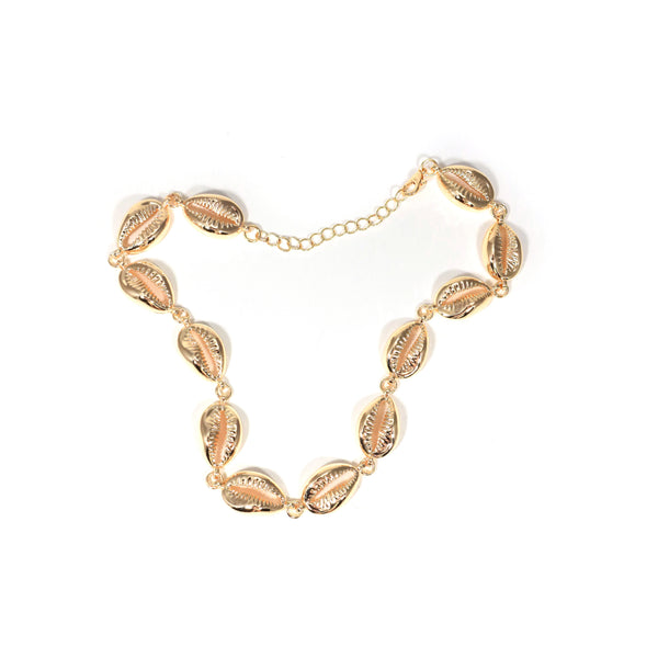 Gold shell Choker necklace