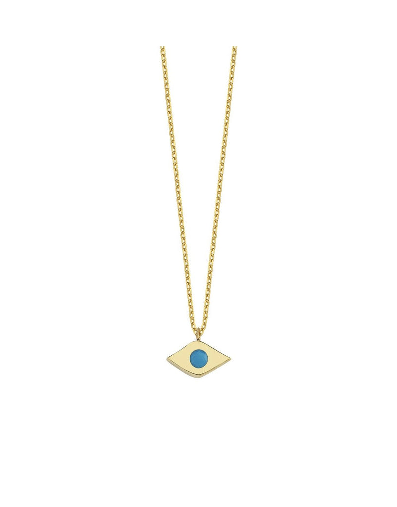 Tiny Evil Eye Necklace JEWELRY The Sis Kiss