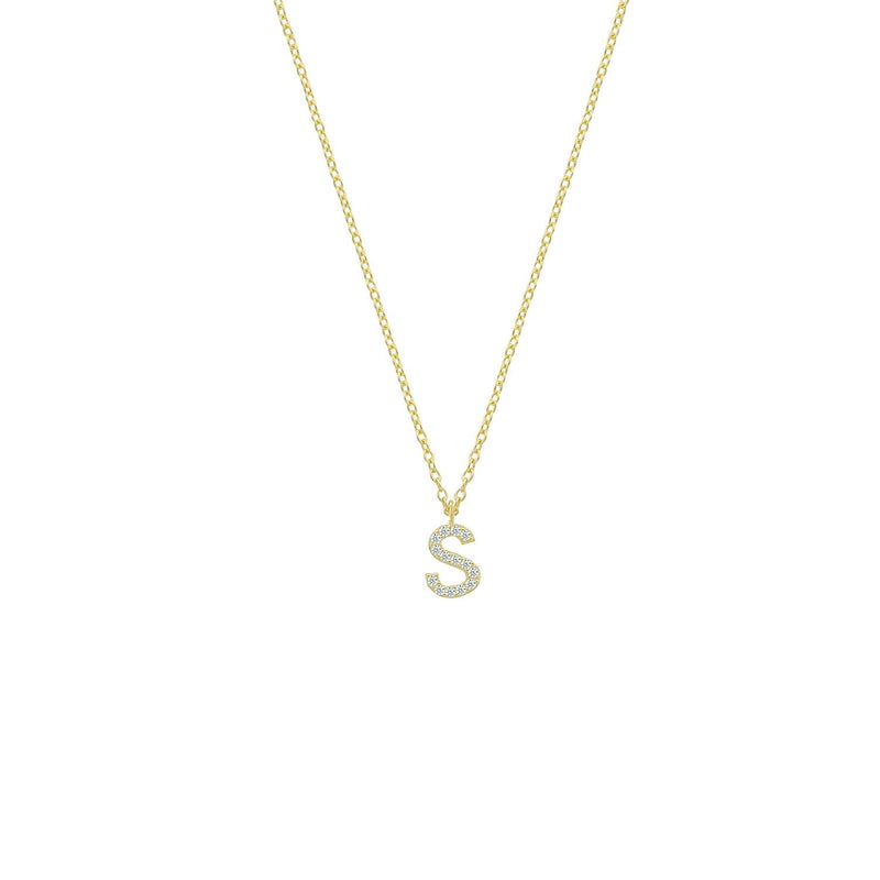 Classic Initial Necklaces JEWELRY The Sis Kiss