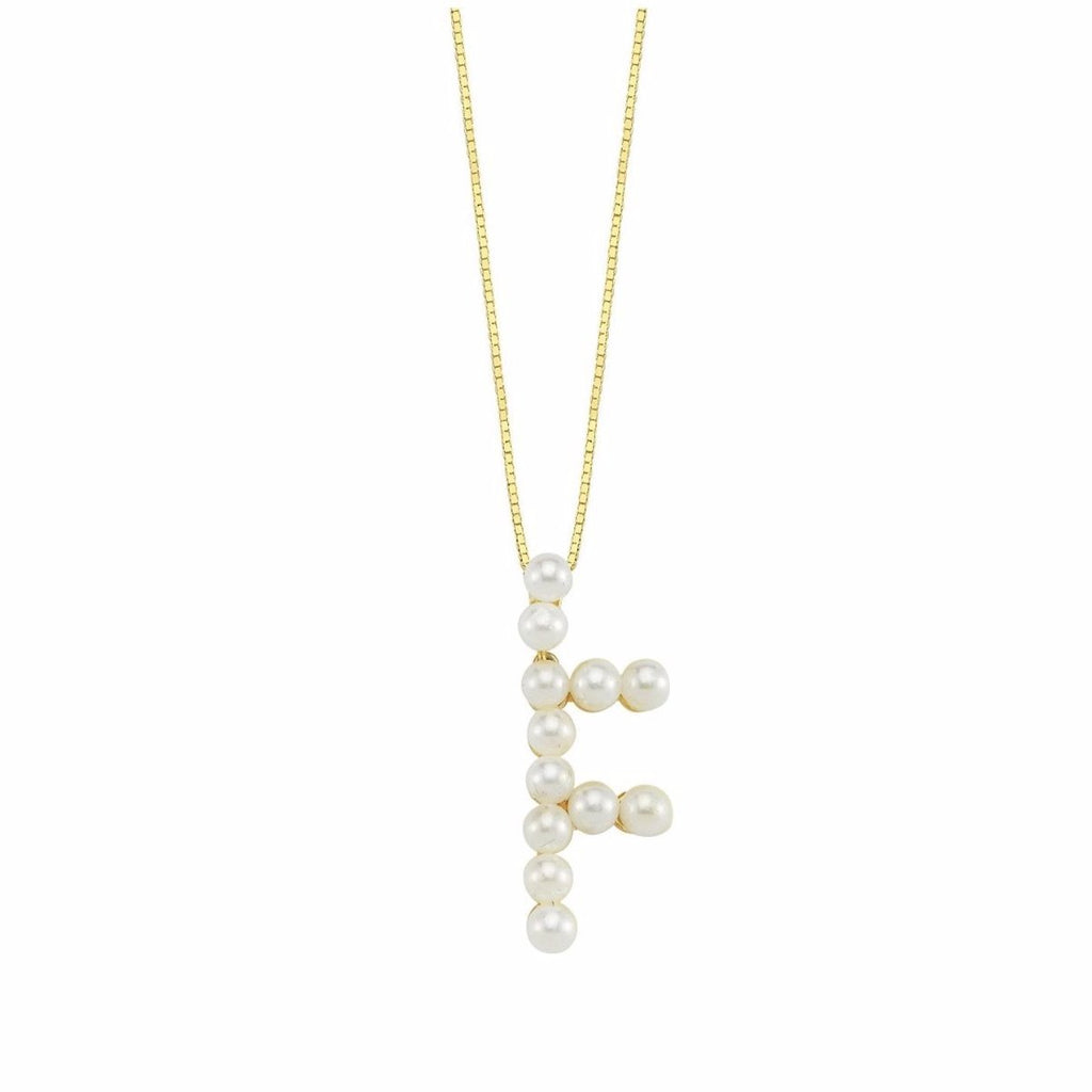 Pearl Initial Necklace JEWELRY The Sis Kiss