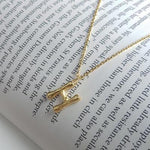 Small Bamboo Initial Letter Necklace The Sis Kiss