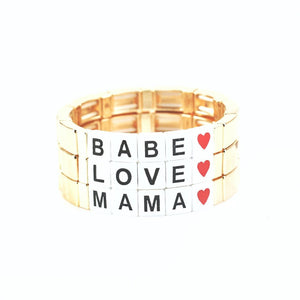 Say it Tile Bracelets