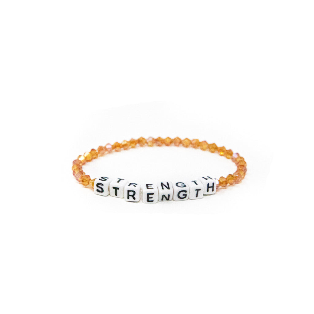 Mantra Bead Bracelets JEWELRY The Sis Kiss Strength