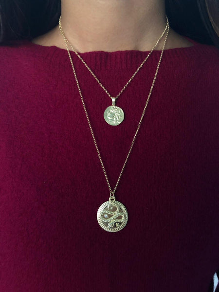Snake Coin Necklace