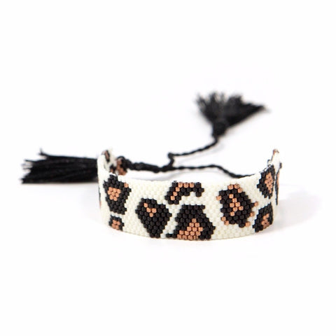 Leopard Beaded Adjustable Bracelets
