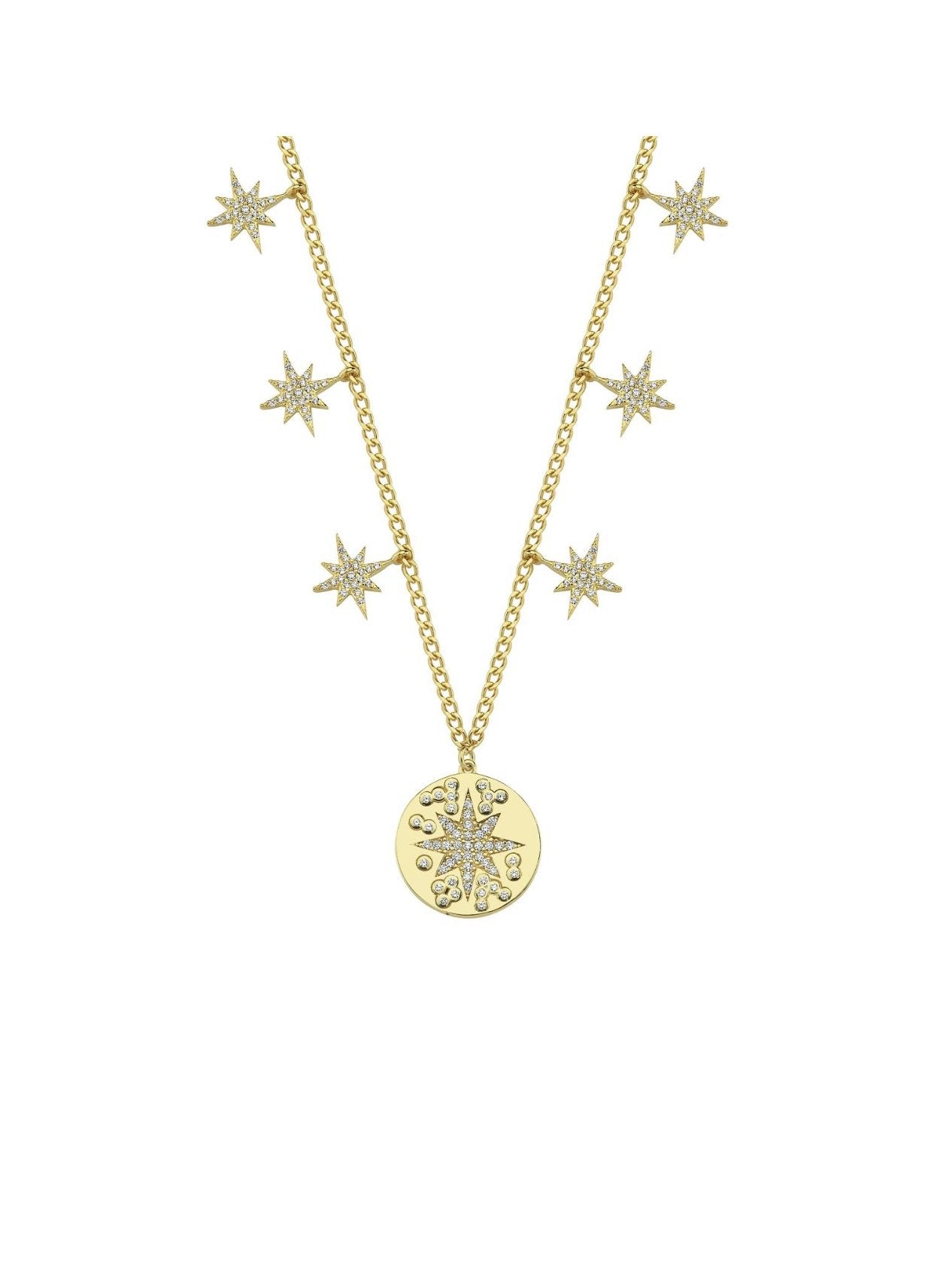 Star Coin Charm Necklace