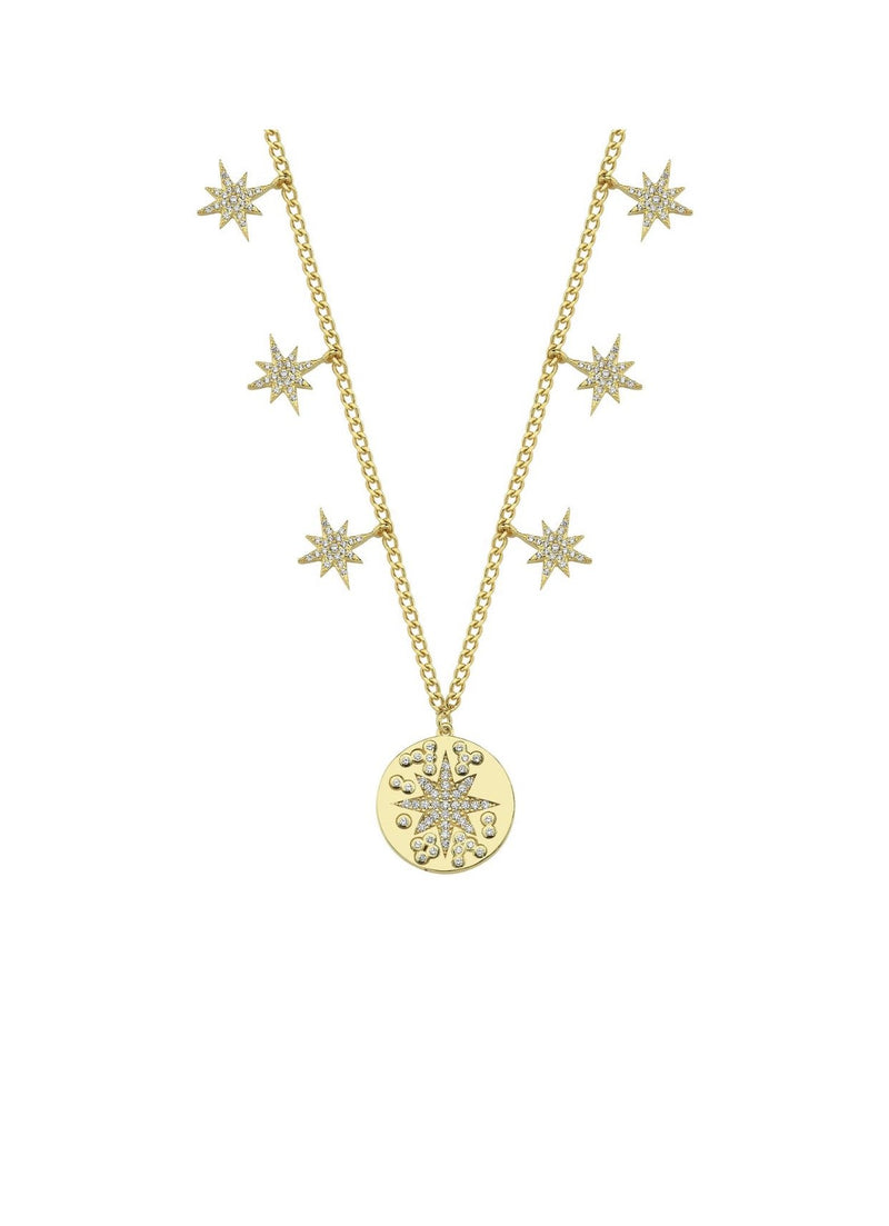 Star Coin Charm Necklace JEWELRY The Sis Kiss