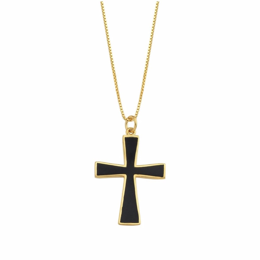Black Cross Necklace JEWELRY The Sis Kiss