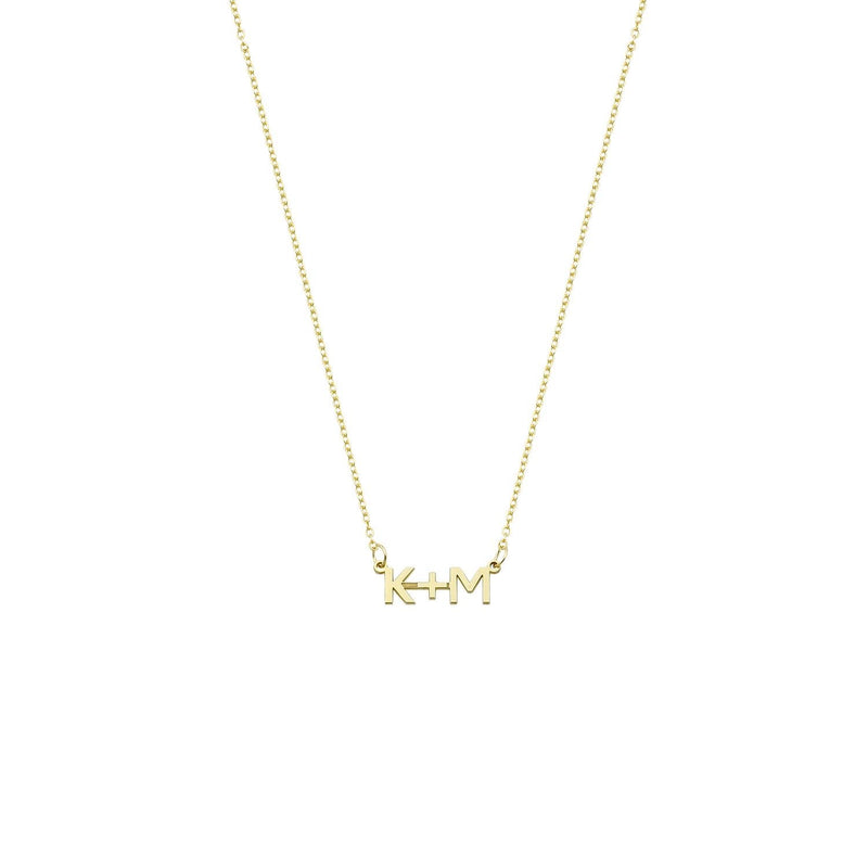 Me+You Custom Initial Necklace necklace The Sis Kiss