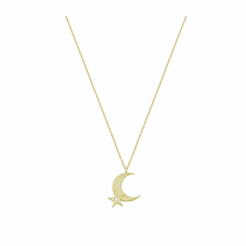 Half Moon & Star Necklace