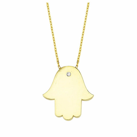 Hamsa Hand Gold Necklace