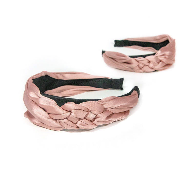 Blush Braided Headband ACCESSORY The Sis Kiss