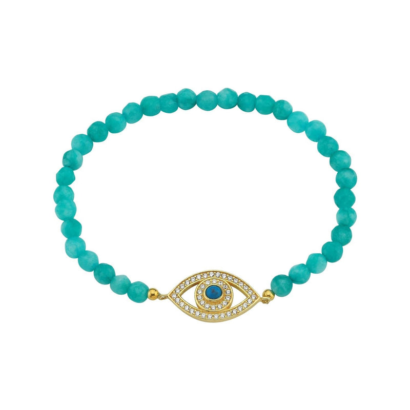 Bead Stretch Evil Eye Bracelet