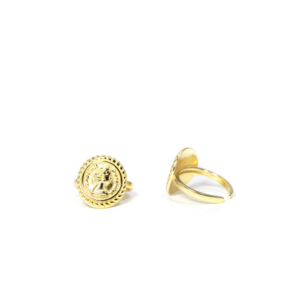 Adjustable Coin Ring JEWELRY The Sis Kiss