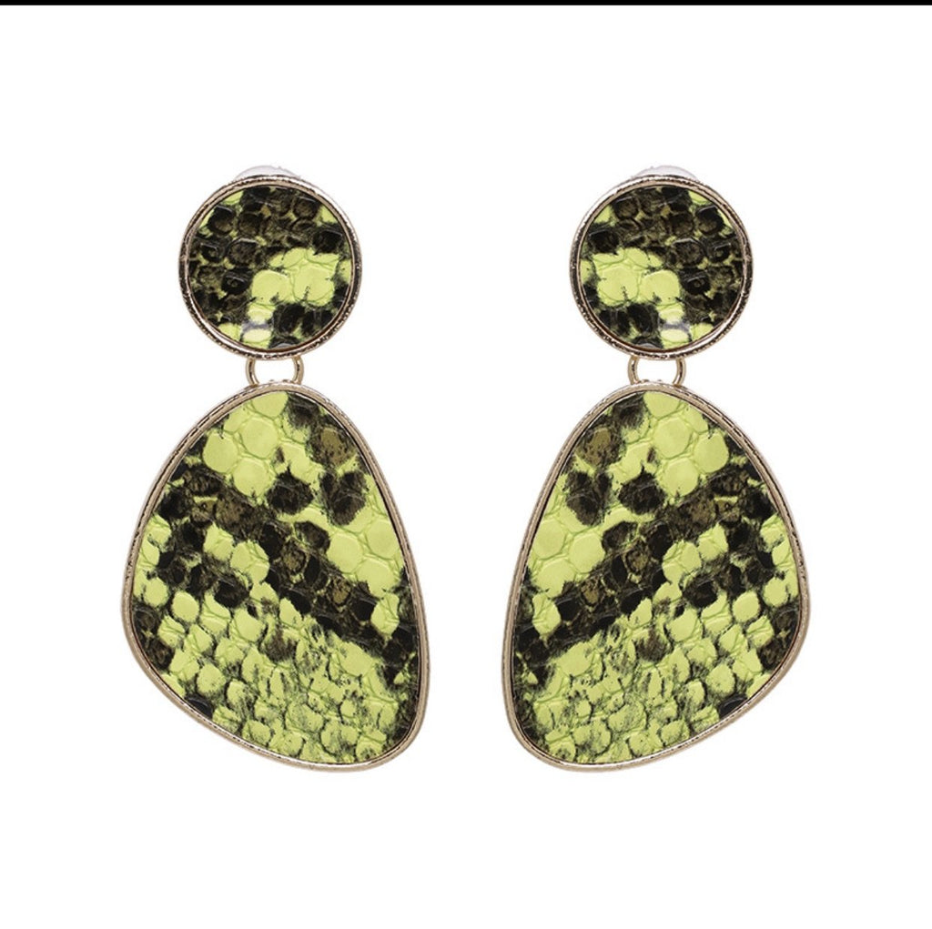 Snakeskin Statement Earrings JEWELRY The Sis Kiss