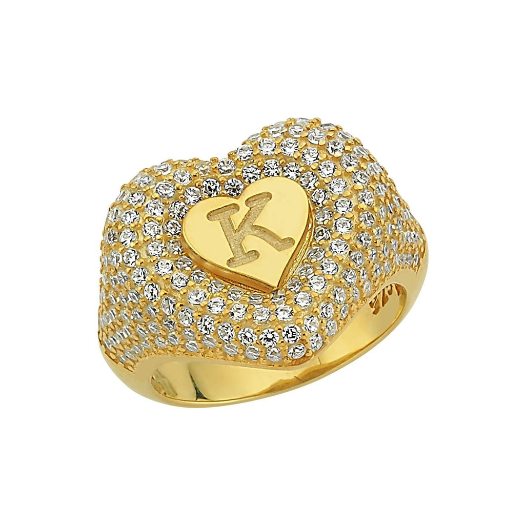 Heart Signet Pinky Ring JEWELRY The Sis Kiss