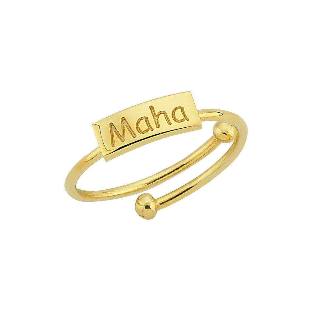 Custom Name Adjustable Ring