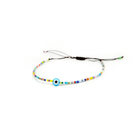 Dainty Evil Eye Beaded Bracelet