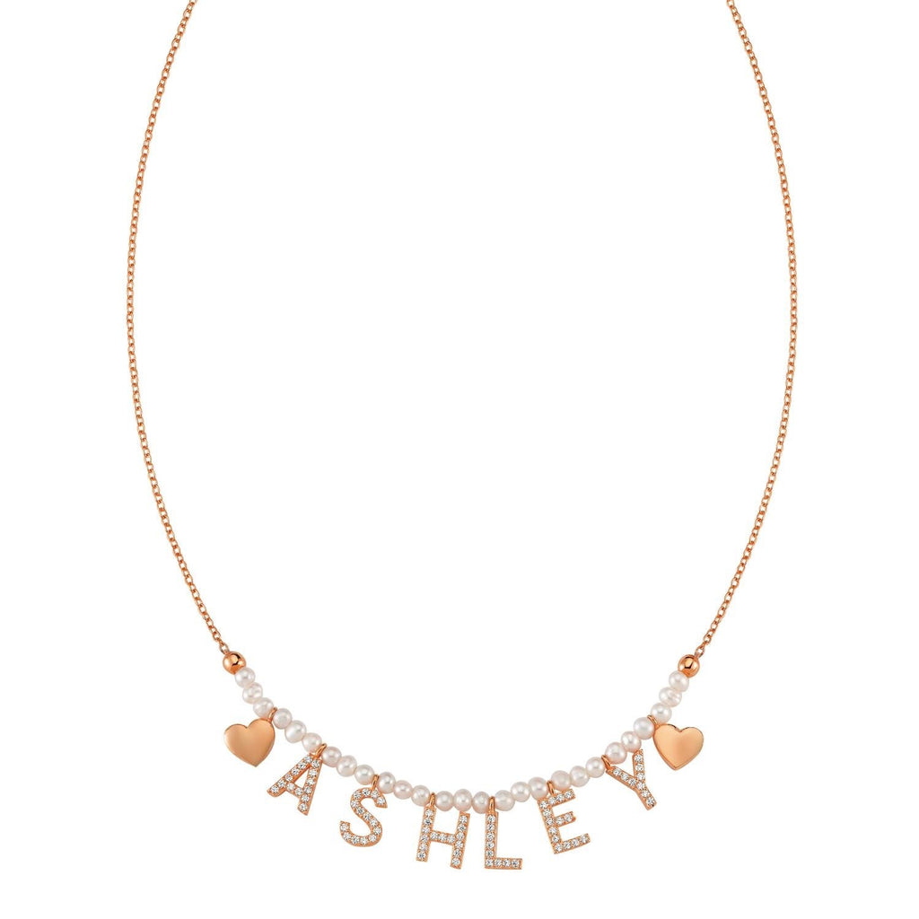 Pearl It's All in a Name™ Necklace JEWELRY The Sis Kiss Rose Gold
