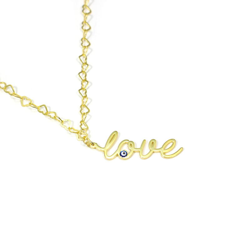 Evil Eye Love Necklace JEWELRY The Sis Kiss