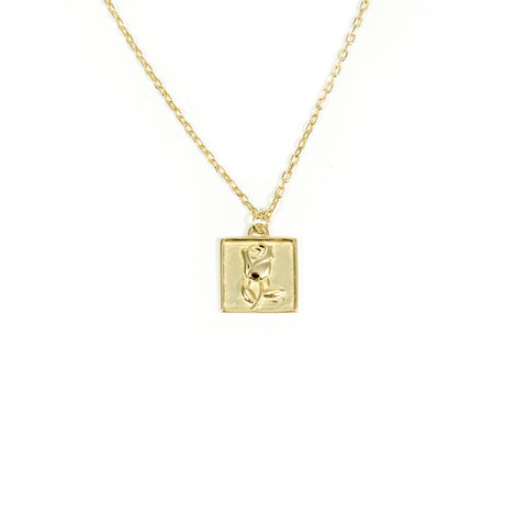 Rose Squared Necklace