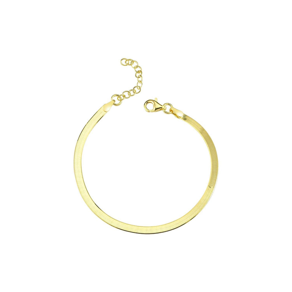Flat Gold Bracelet JEWELRY The Sis Kiss