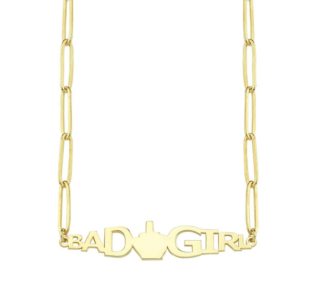 Bad Girl Necklace JEWELRY The Sis Kiss