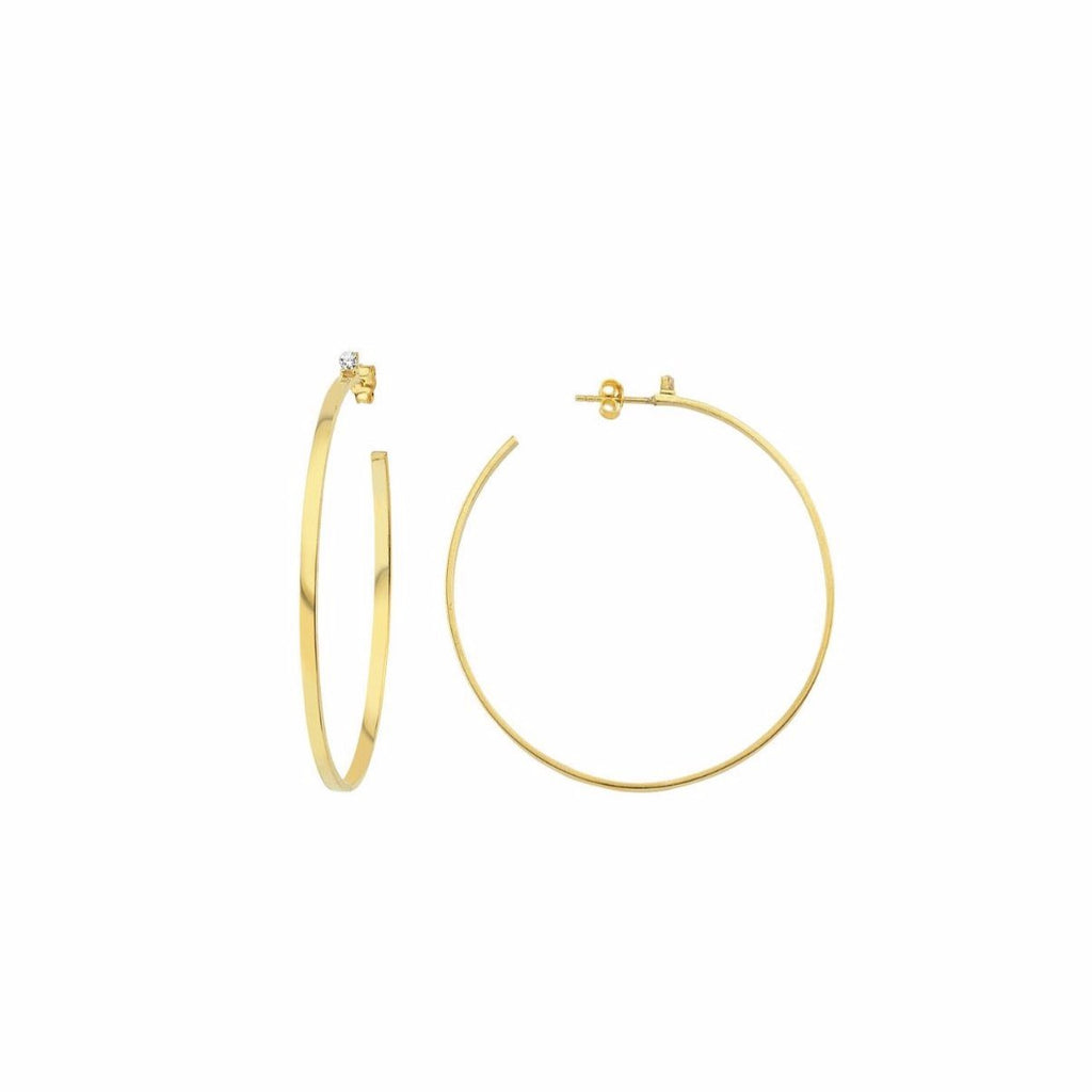 Classic Gold Hoop Earrings JEWELRY The Sis Kiss