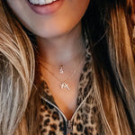 Single Letter Initial Necklaces JEWELRY The Sis Kiss