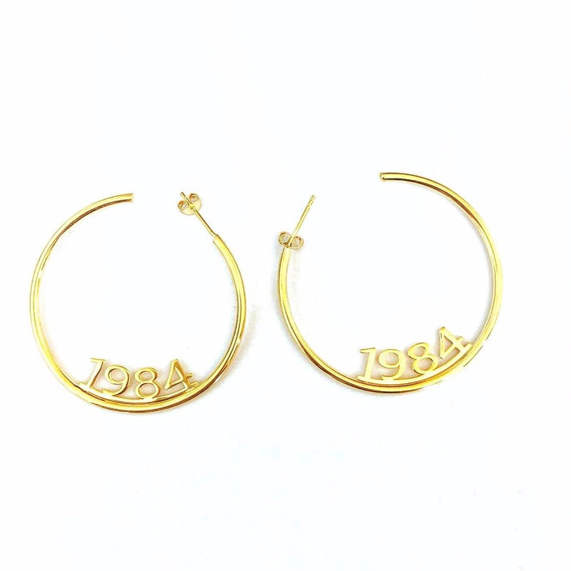 Custom Name Hoop Earrings JEWELRY The Sis Kiss