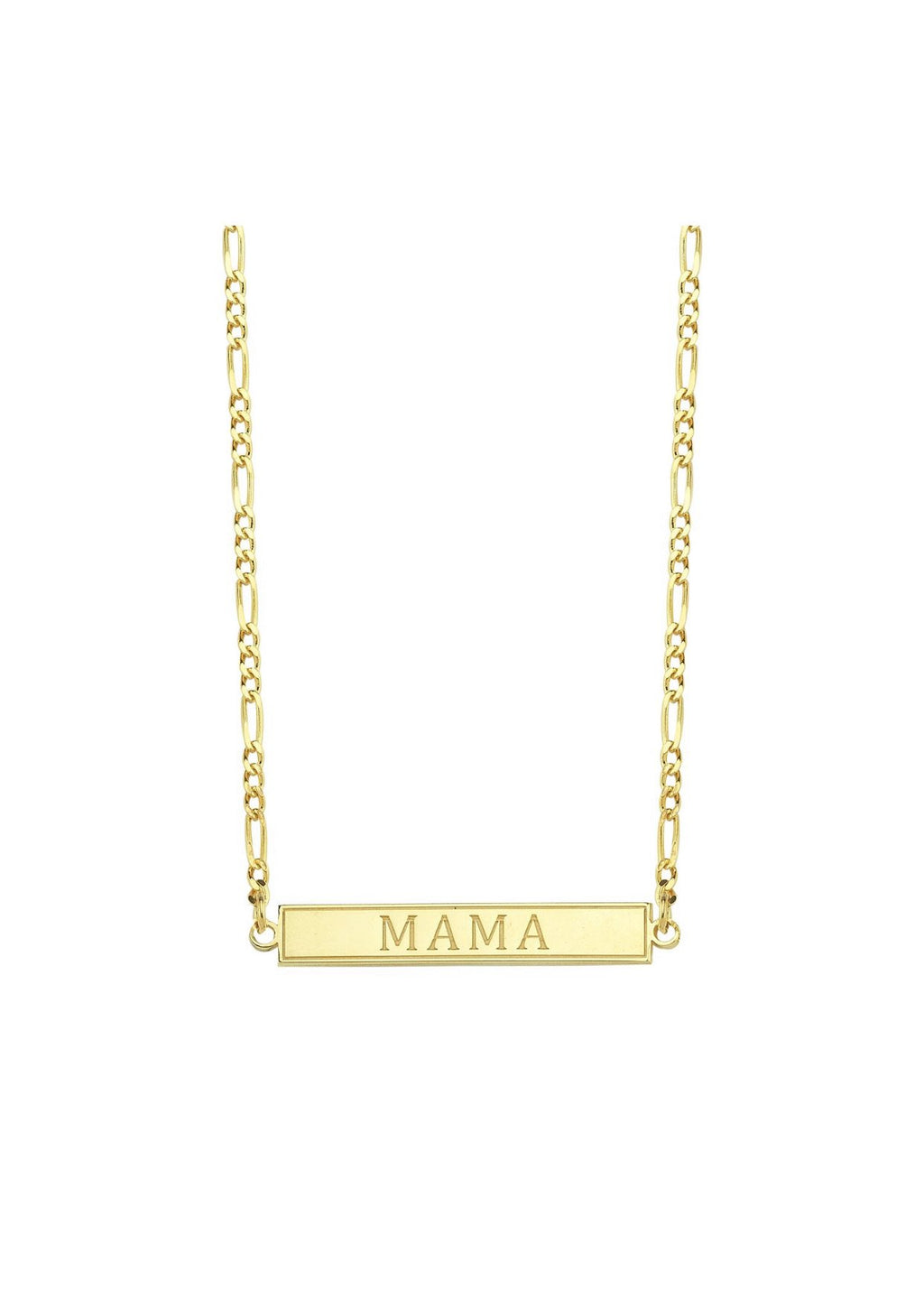 Mama Bar Chain Link Necklace JEWELRY The Sis Kiss