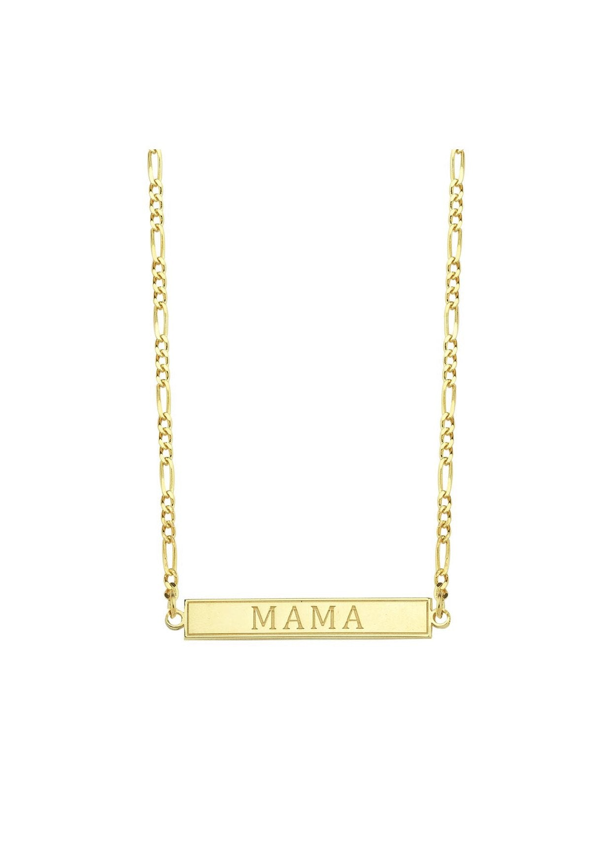 Mama Bar Chain Link Necklace