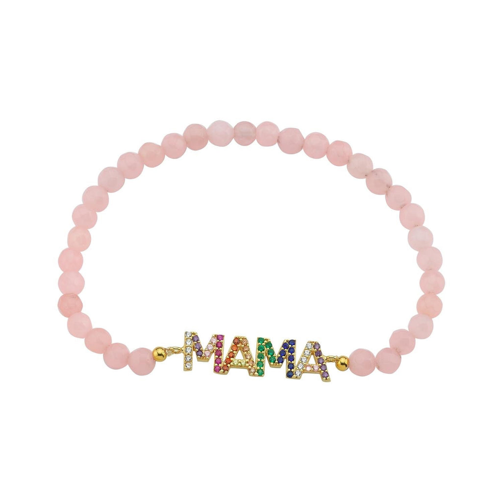 Mama Beaded Bracelet JEWELRY The Sis Kiss Pink