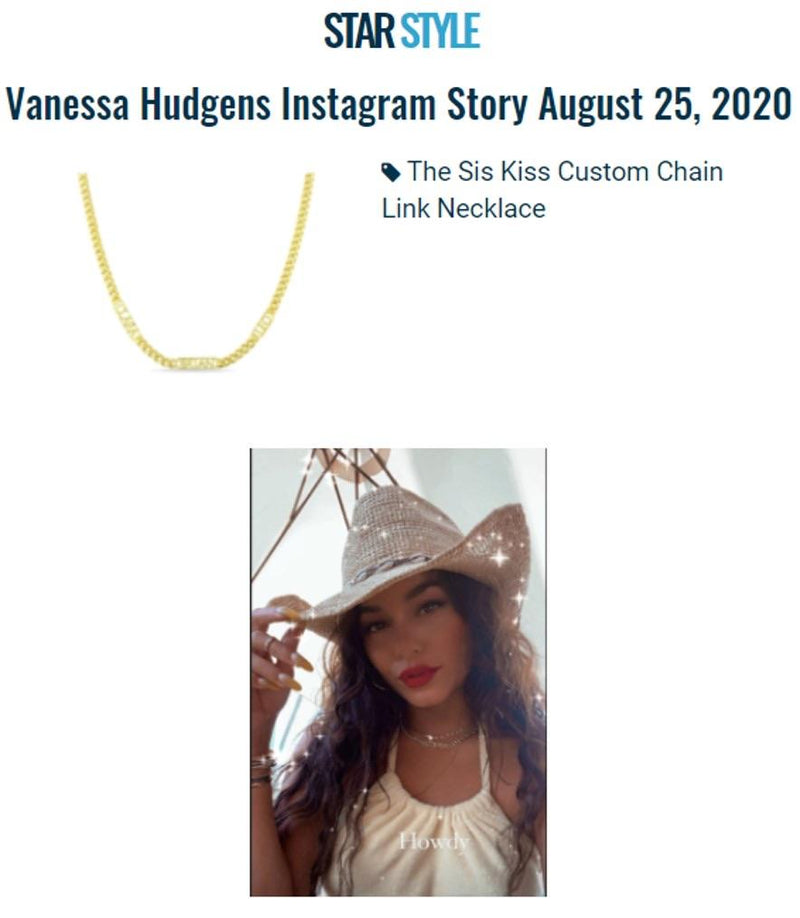 Custom Chain Link Necklace necklace The Sis Kiss