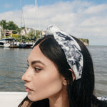 Black and White Tie Dye Headband