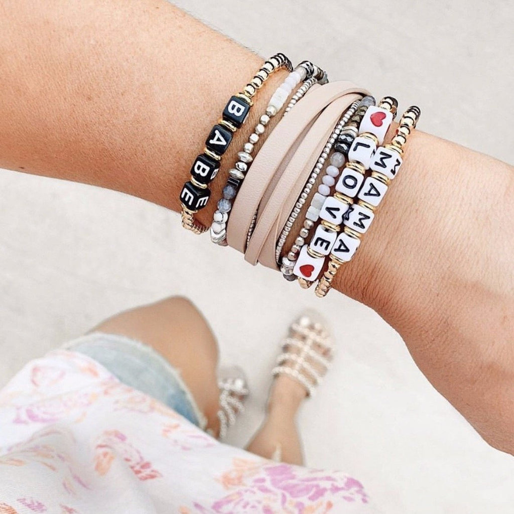 Beaded Adjustable Bracelets JEWELRY The Sis Kiss