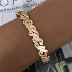 Thick Braided Gold Cuff