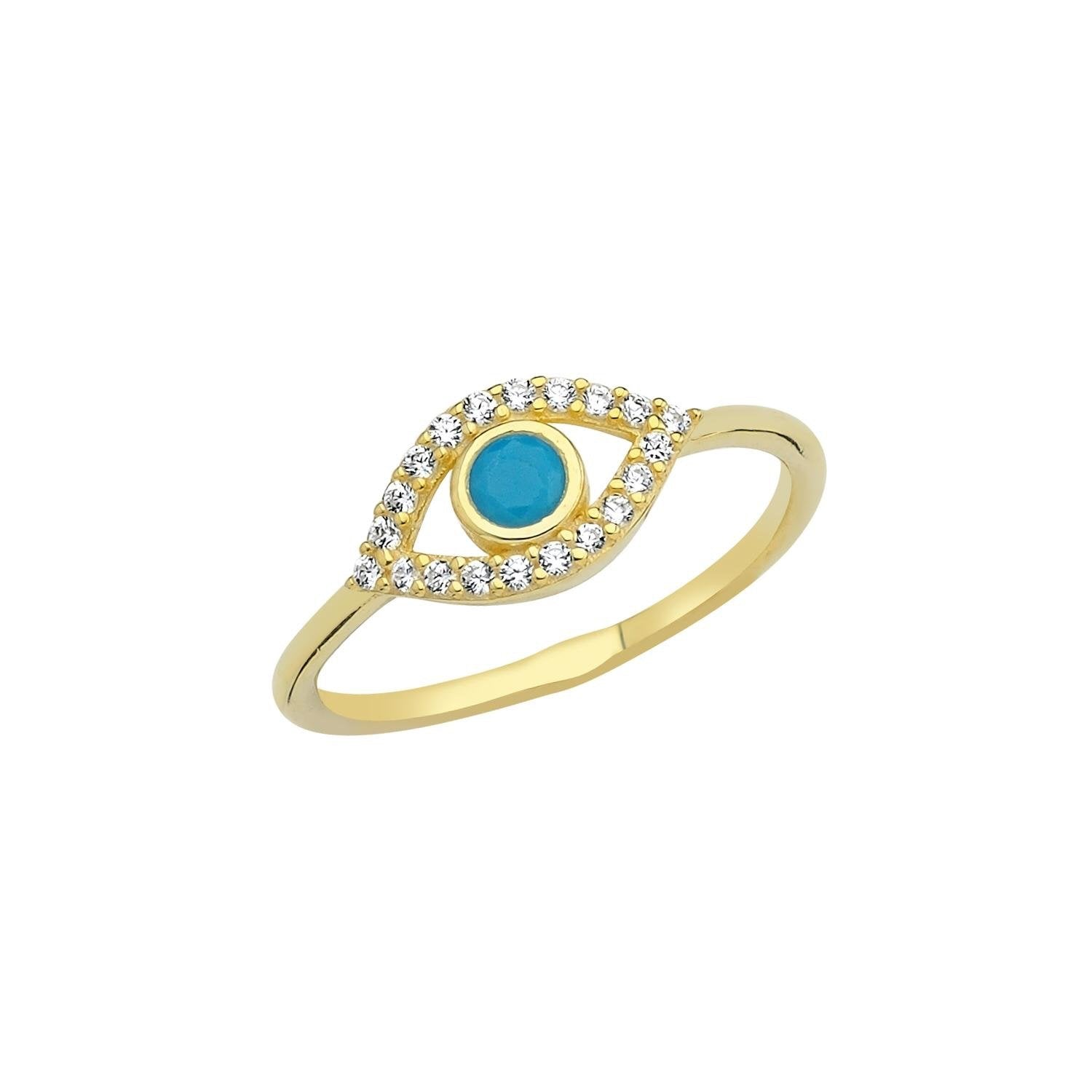 Dainty Evil Eye Ring