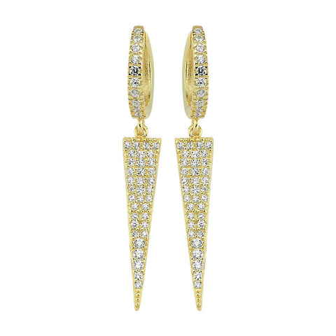 Large Spike Crystal Earrings