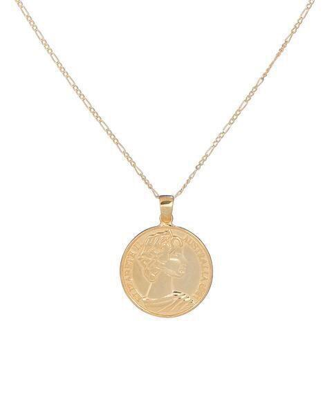 Perfect Pair- Personalized Necklace Duo: Custom Name Necklace & Greek Goddess Coin