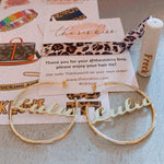 Custom Script Hoop Earrings JEWELRY The Sis Kiss